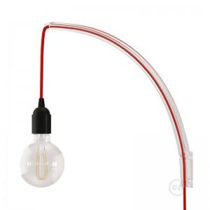 Archet(To) - priehľadný  závesný systém na stenu pre visiace svietidlá.