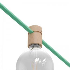 Drevená objímka s príslušenstvom pre svetelné reťaze a Filé System. Vyrobená v Taliansku.