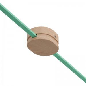 Oválna drevená stropná rozeta s 2 bočnými otvormi pre svetelné šnúry a Filé systém. Vyrobená v Taliansku.