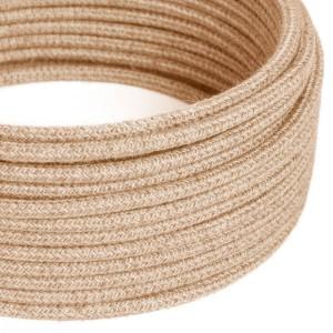 Okrúhly textilný elektrický kábel, potiahnutý jutou, RN06