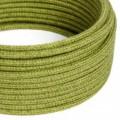 Okrúhly textilný elektrický kábel opletený jutou RN23 zelený
