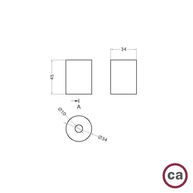 Drevená koncovka pre 2XL lanové káble