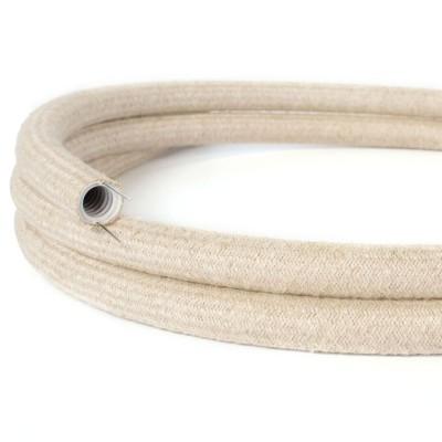Creative-Tube - ohybná trubica potiahnutá prírodnou ľanovou tkaninou RN01, priemer 20 mm