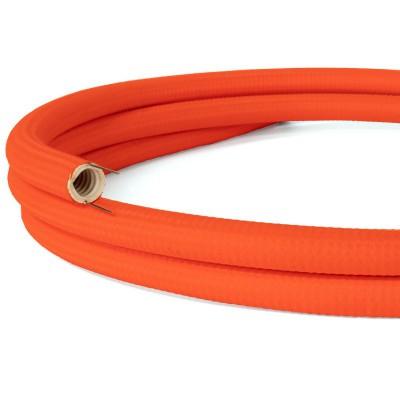 Creative-Tube - ohybná trubica potiahnutá fluo oranžovou hodvábnou tkaninou RF15, priemer 20 mm