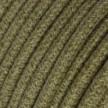 Okrúhly textilný elektrický kábel opletený jutou RN26 tmavohnedý