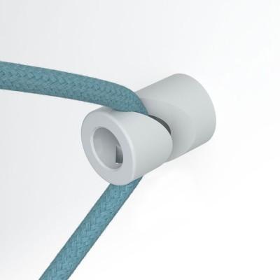 """Decentralizér, stropný alebo nástenný """"V"""" háčik pre textilné elektrické káble."""