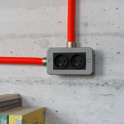Kovová krabička pre Creative-Tube s dvojitou Schuko zásuvkou