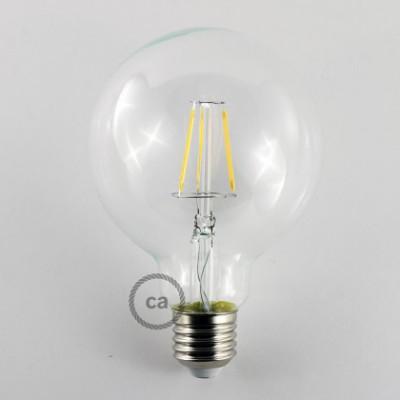 Priehľadná LED žiarovka - Glóbus G95, 4W, E27 Decorative Vintage