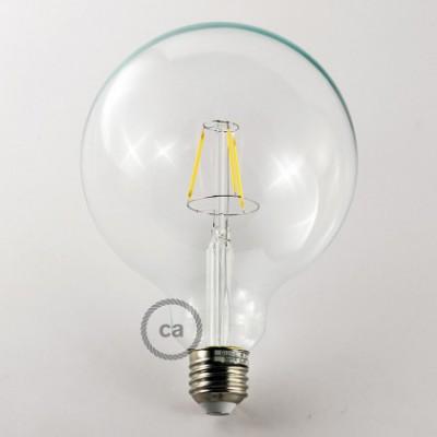 Priehľadná LED žiarovka - Glóbus G125, 4W, E27 Decorative Vintage