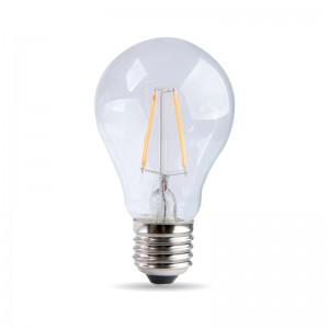 Žiarovka s LED vláknom Drop 4W E27 Priehľadná
